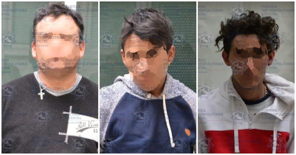 trío criminal en SLP