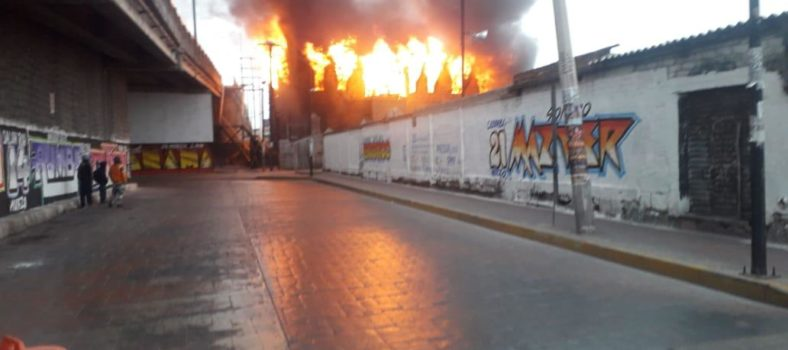 incendio en estación de ferrocarriles