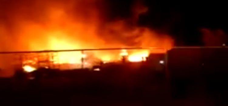 Incendio en Villa de Pozos
