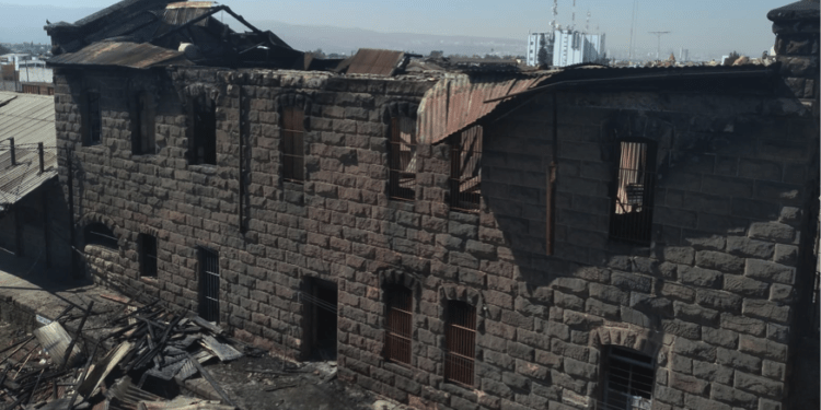 incendio en bodega del ferrocarril